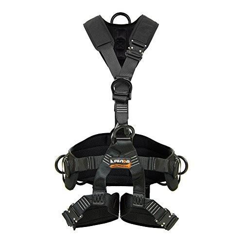 海外正規品Fusion Climb Tac Rescue Tactical Full Body EVA Padded Heavy Duty Adjustable Zipline Harness 23kN L-XL Black