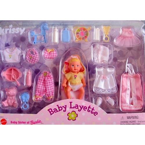 バービーBarbie KRISSY BABY LAYETTE Doll & Accessories Set (1999)