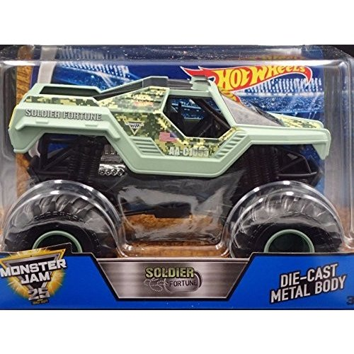 ホットウィールHot Wheels Monster Jam Soldier Fortune Vehicle, 1:24 Scale