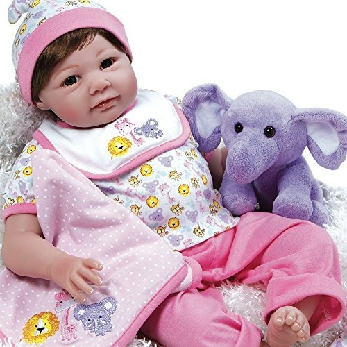 パラダイスギャラリーズParadise Galleries Realistic Reborn Baby Doll Sarah Safari, 8-Piece Gift Set, 21 inch Girl in Gen