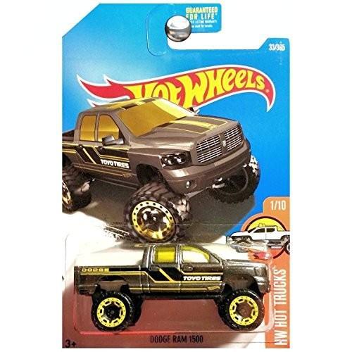 ホットウィールHot Wheels 2017 HW Hot Trucks Dodge Ram 1500 33/365, Dark Gray