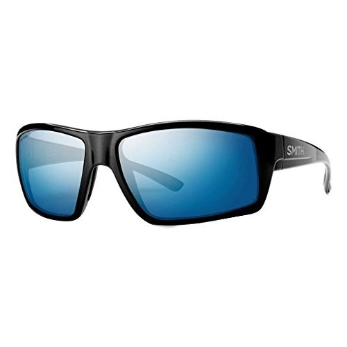 スミスSmith Optics Challis Sunglasses, 黒 Frame, Polar 青 Mirror Techlite Glass Lenses