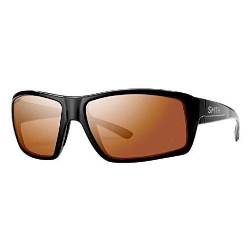スミスSmith Optics Challis Sunglasses, 黒 Frame, Polarchromic Copper Mirror Techlite Glass Lenses
