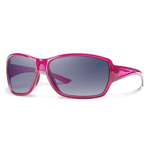 スミスSmith Optics Women's Pace Sunglasses, Crystal Plum Frame, Indigo Gradient Carbonic TLT Lenses