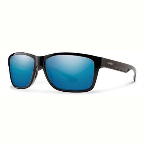 スミスSmith Optics Drake Sunglasses, 黒, Polarized 青 Mirror