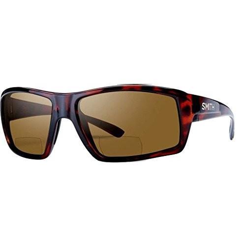 スミスSmith Challis Bifocal Polarized Sunglasses - Men's Tortoise/褐色 2.50, One Size