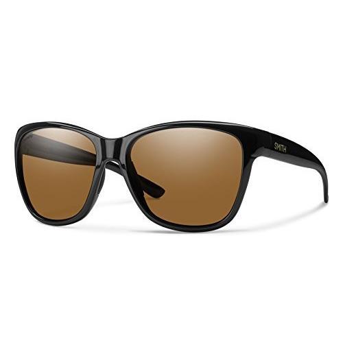 スミスSmith Optics Women's Ramona Chroma Pop Polarized Sunglasses (褐色 Lens), 黒