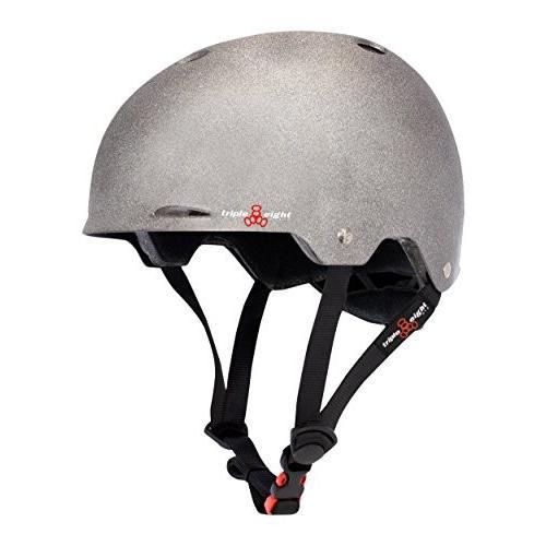 ヘルメットTriple Eight Gotham Dual Certified Skateboard and Bike Helmet, Darklight Reflective, Large/X-Large