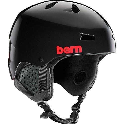 ヘルメットBERN Men's Macon Snow Helmet Gloss 黒 Henrik Harlaut S