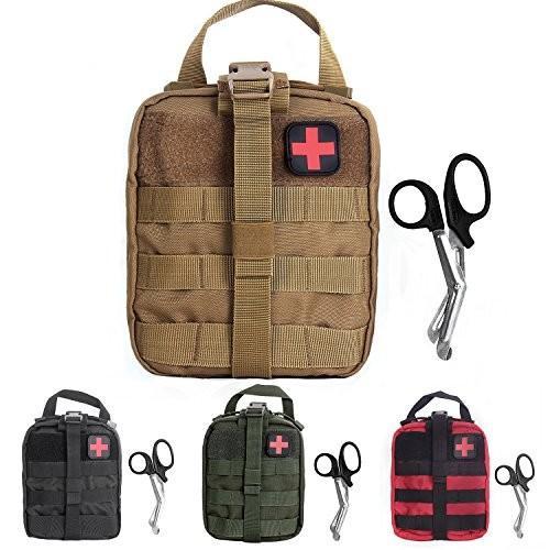 タクティカルポーチTactical MOLLE Rip-Away EMT Medical First Aid Utility Pouch (Tan with First Aid Patch)