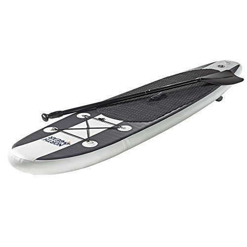 スタンドアップパドルボードNorth Gear 8FT Inflatable SUP Stand up Paddle Board Package White/Black