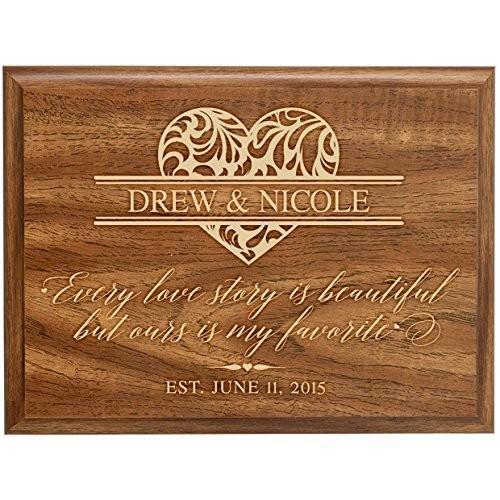 壁飾りLifeSong 壁飾りLifeSong Milestones Personalized Year Family Established Signs Custom Engraved Names Every Love Story is Beautiful but Ou