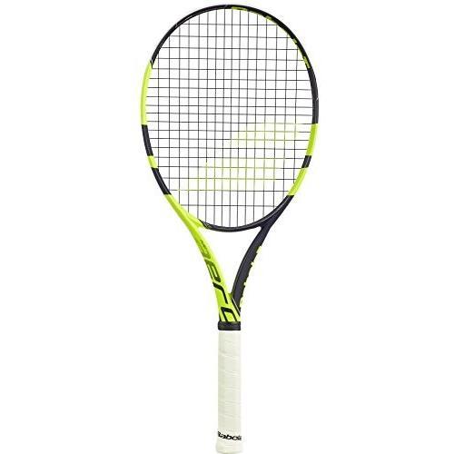 テニスBabolat Pure Aero Lite 黒/黄 Tennis Racquet (4 1/4