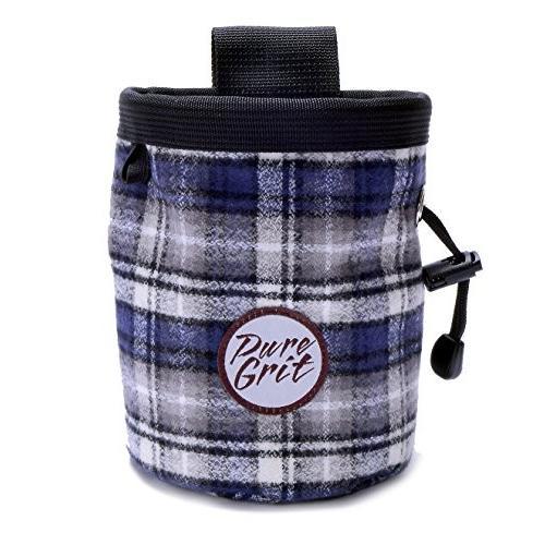 海外正規品Pure Grit Colorful Flannel Chalk Bag (USA Made) with Belt (Blues)
