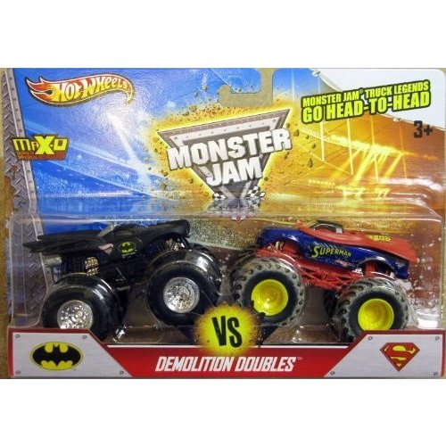 ホットウィールHot Wheels Monster Jam Demolition Doubles - Batman VS Superman - 1:64 Scale