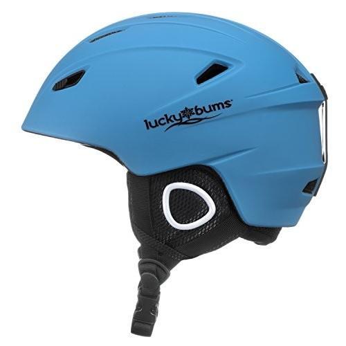 スノーボードLucky Bums Powder Series, in-Mold Snow Sport Helmet, Glacier 青, X-Large