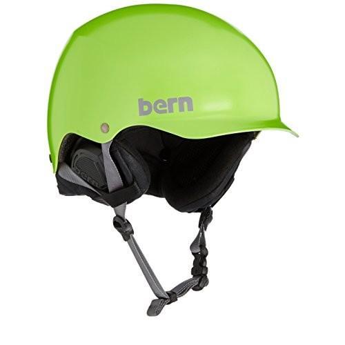 スノーボードBERN Baker Thin Shell w EPS Foam Ski Helmet Small/Medium Satin Neon 緑 黒 Liner