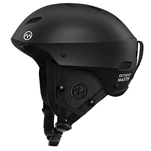 スノーボードOutdoorMaster Ski Helmet - with ASTM Certified Safety, 9 Options - for Men, Women & Youth (黒,M)