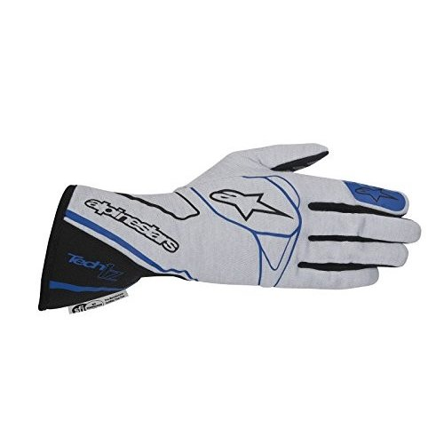 アルパインスターズAlpinestars 2017 Tech 1-Z Glove - Size Large - 銀/黒/青 - SFI 3.3 LEVEL 5/FIA 8856-2000 (35502