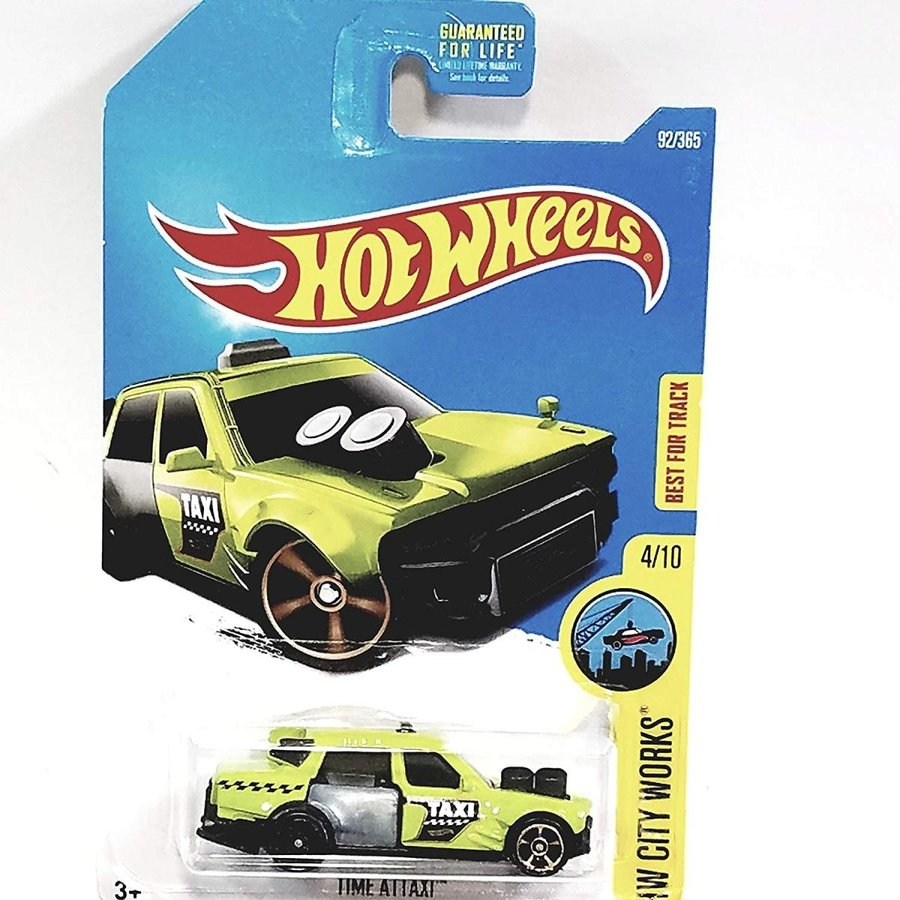 ホットウィールHot Wheels 2017 HW City Works Time Attaxi 92/365, Neon 緑