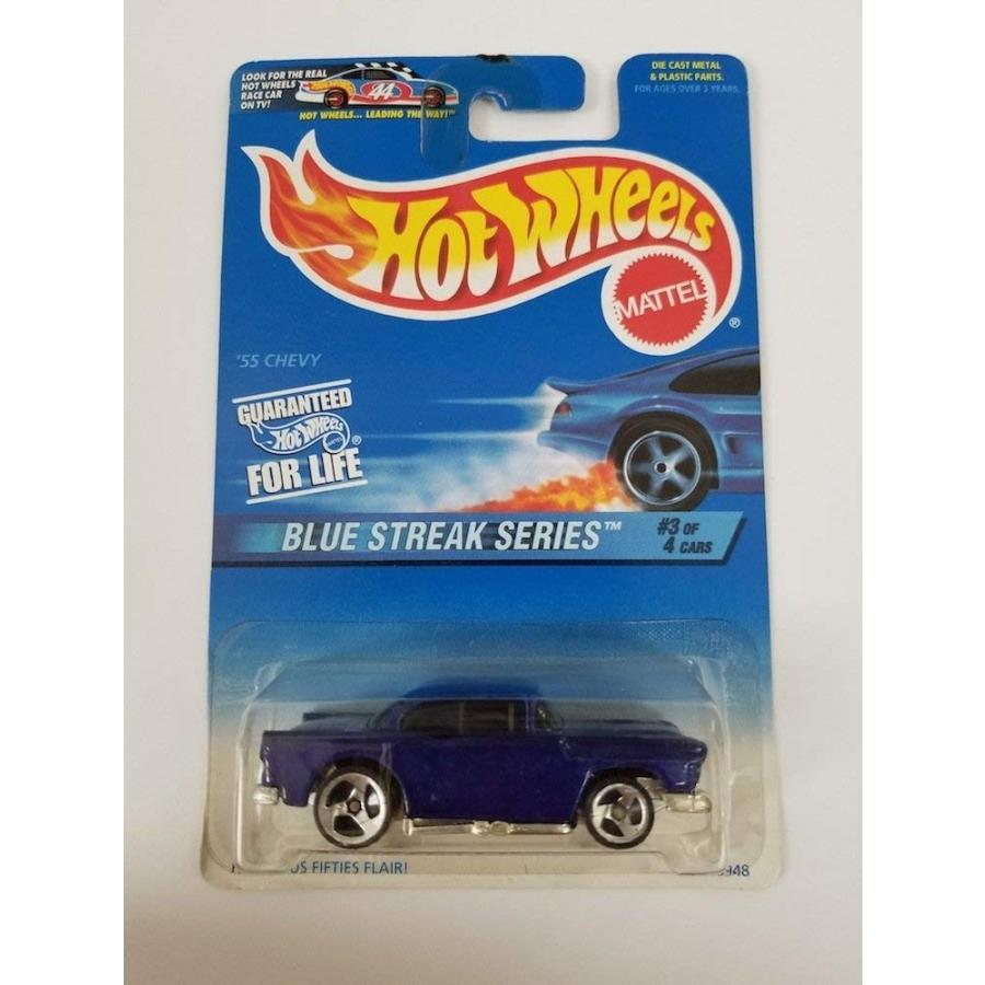 ホットウィールHot Wheels 1997 青 Streak Series #2 '55 Chevy #575 1:64 Scale