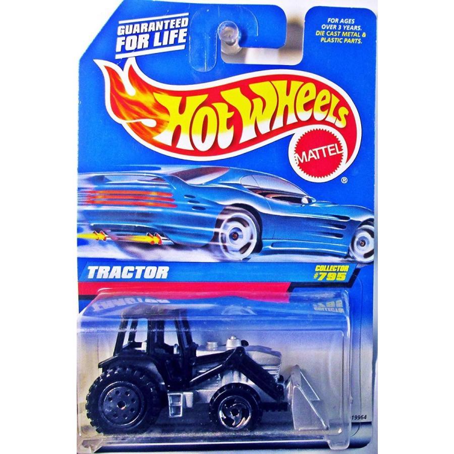 ホットウィールHot Wheels Mattel 1998 1:64 Scale 黒 & 銀 Tractor Die Cast Car Collector #795