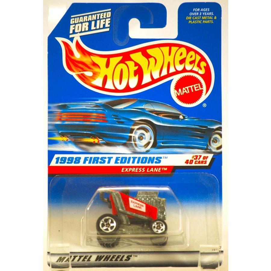 ホットウィールHot Wheels 1998 - Mattel Express Lane (赤 Racing Shopping Kart) - 1998 First Editions #37 of 40 Cars - 1:64
