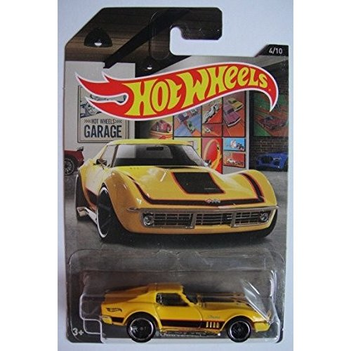 ホットウィールHOT WHEELS GARAGE 黄 '69 CORVETTE 4/10