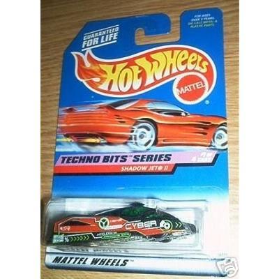 ホットウィールMattel Hot Wheels 1998 1:64 Scale Techno Bits Series 黒 Shadow Jet II Die Cast Car 1/4