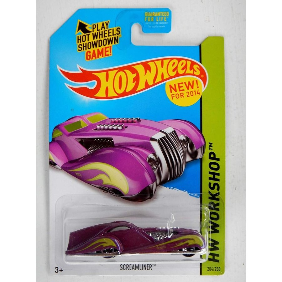 ホットウィール2014 Hot Wheels HW Workshop Screamliner 204/250 - 紫の