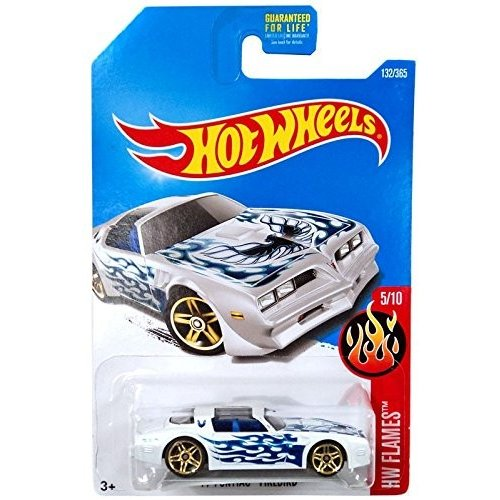 ホットウィールHot Wheels 2017 HW Flames '77 Pontiac Firebird 132/365, 白い