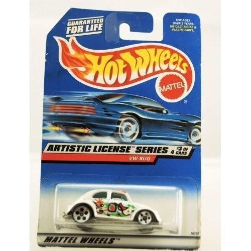 ホットウィールHot Wheels 1997 Artistic License Series VW BUG 3/4 #731 1:64 Scale by Hot Wheels