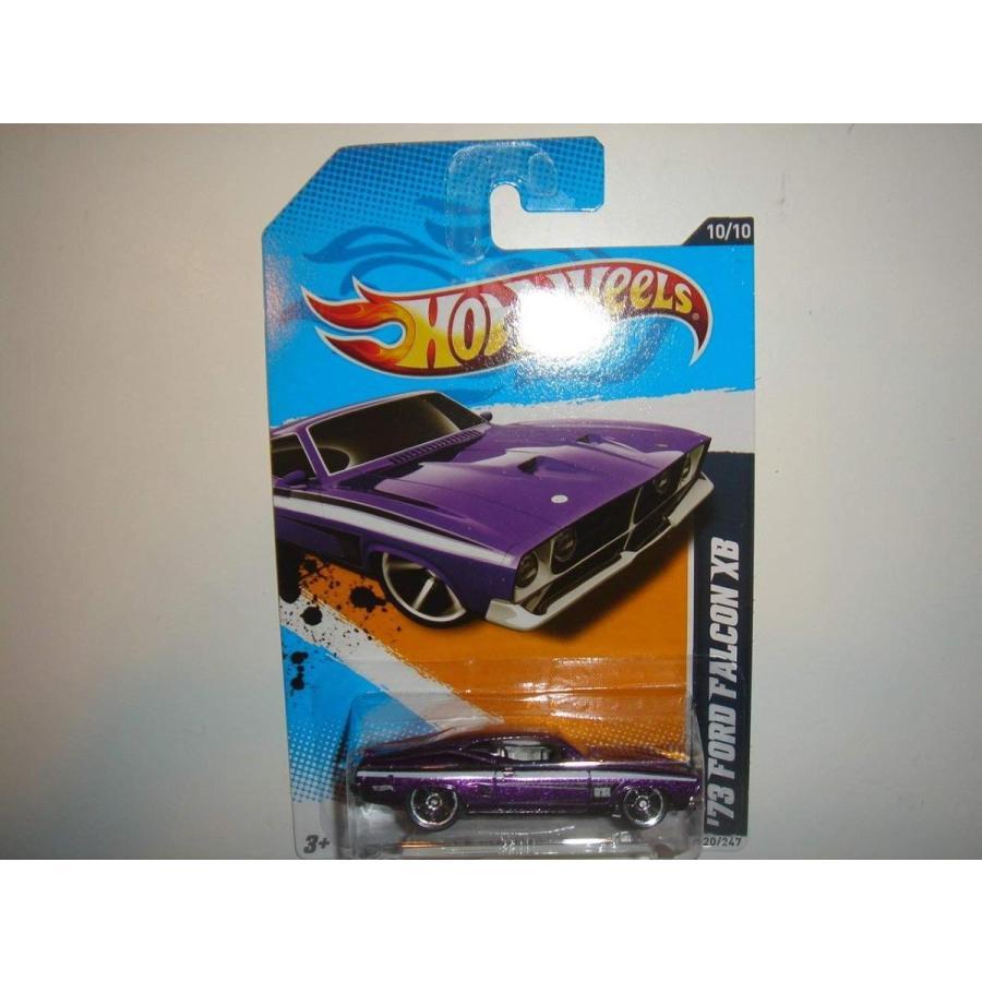 ホットウィールHot Wheels Muscle Mania Ford '73 Ford Falcon XB 紫の 120/247