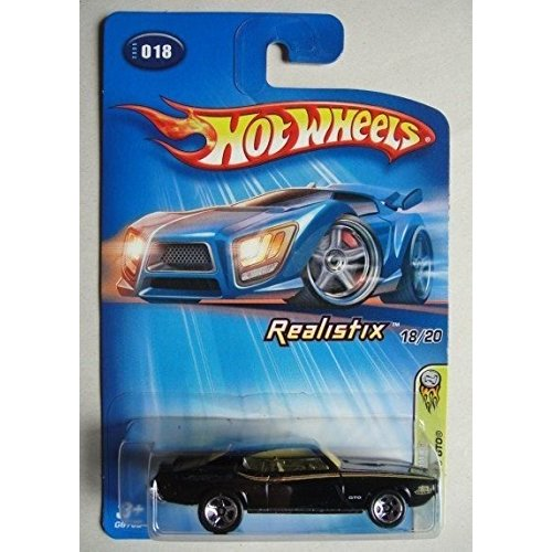 ホットウィールHOT WHEELS 2005 FIRST EDITIONS REALISTIX 黒 '69 PONTIAC GTO #18 5 SPOKE