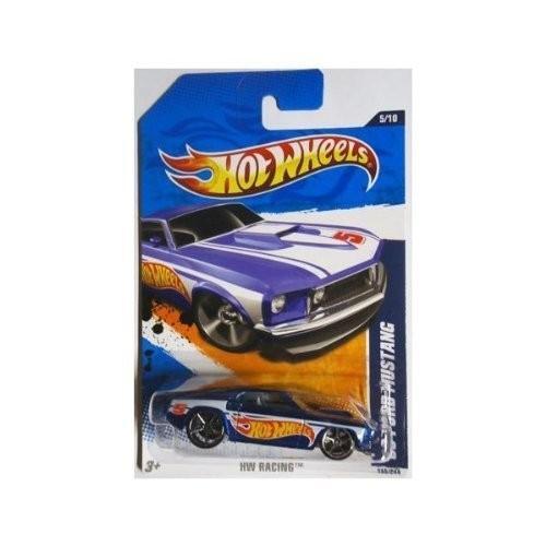 ホットウィール2011 Hot Wheels '69 FORD MUSTANG HW RACING 5 of 10, #155 青 with logo