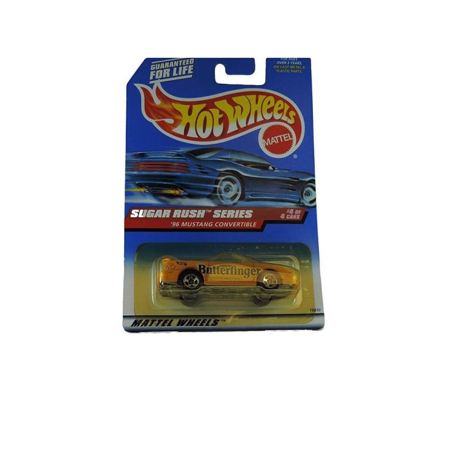 ホットウィールMattel Hot Wheels 1998 1:64 Scale Sugar Rush Series 1996 Butterfinger Ford Mustang Convertible Die Cast Car 4