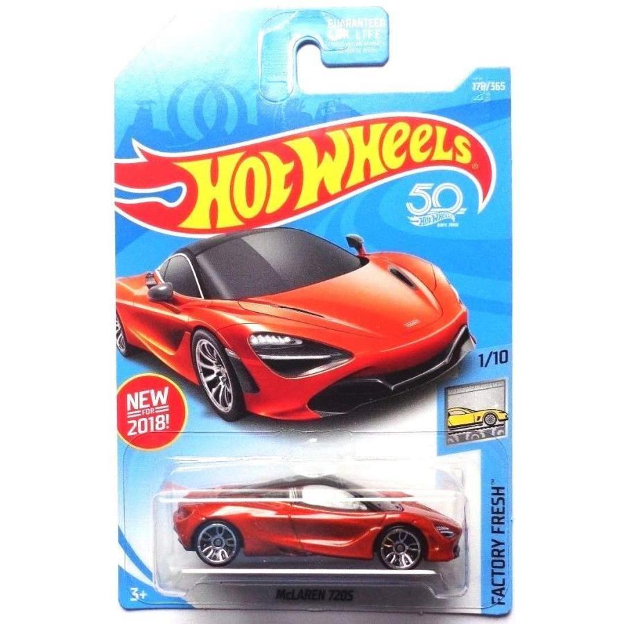 ホットウィールHot Wheels 2018 50th Anniversary Factory Fresh McLaren 720S 178/365, オレンジ