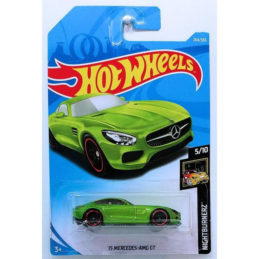 ホットウィールHot Wheels 2018 50th Anniversary Nightburnerz '15 Mercedes-AMG GT 264/365, 緑