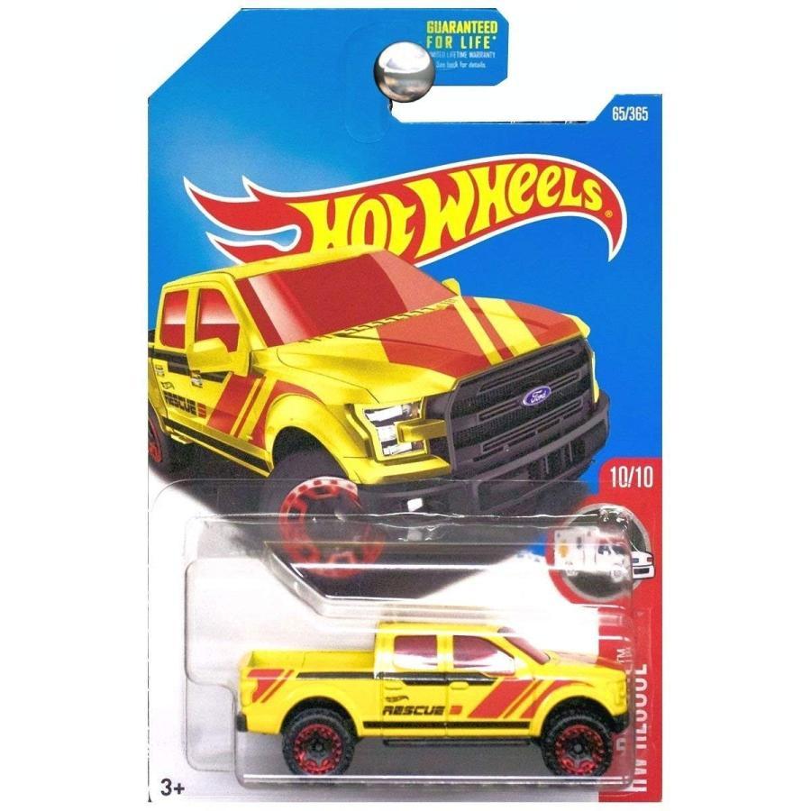ホットウィールHot Wheels 2017 HW Rescue '15 Ford F-150 65/365, 黄
