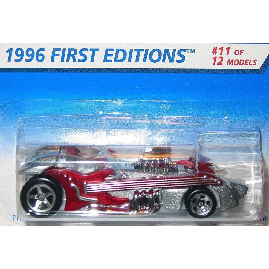 ホットウィールMattel Hot Wheels 1996 1:64 Scale 銀 & Burgundy Twang Thang Die Cast Car Collector #376