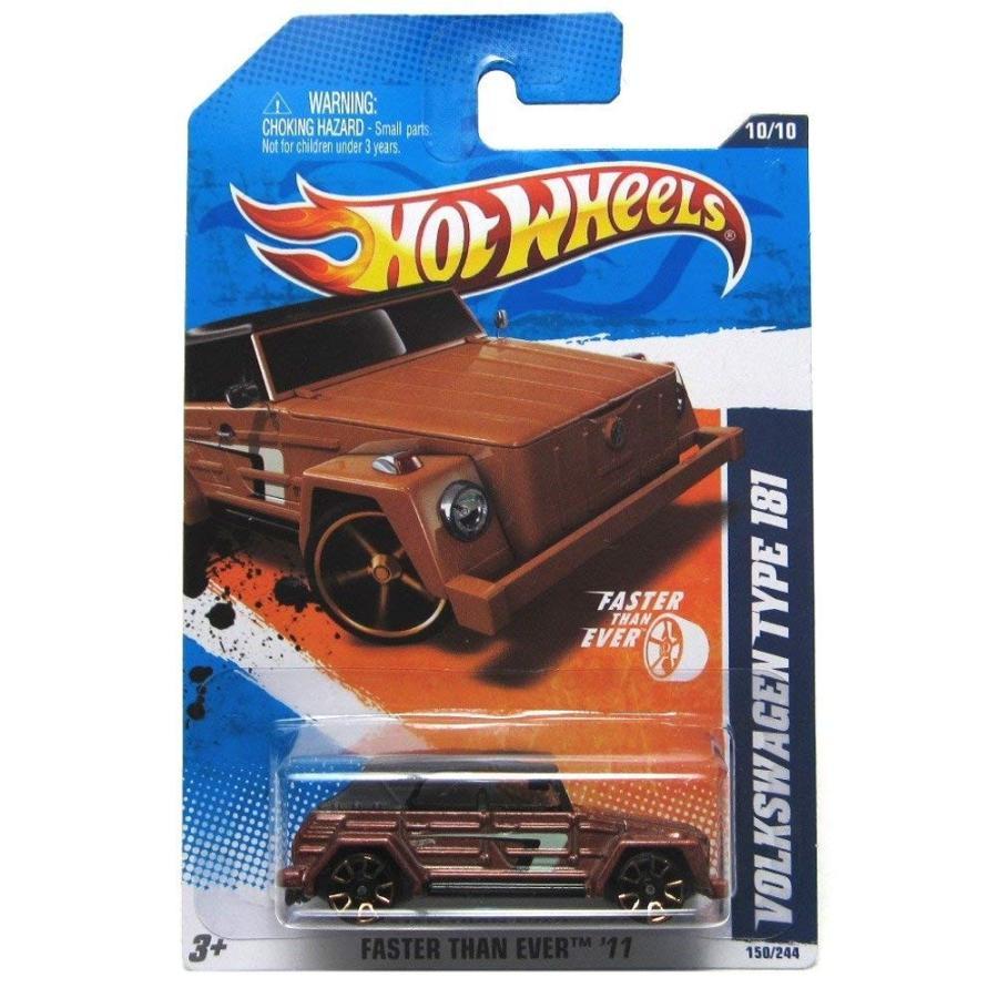 ホットウィール2011 Hot Wheels Faster Than Ever Volkswagen Type 181 褐色 #150/244