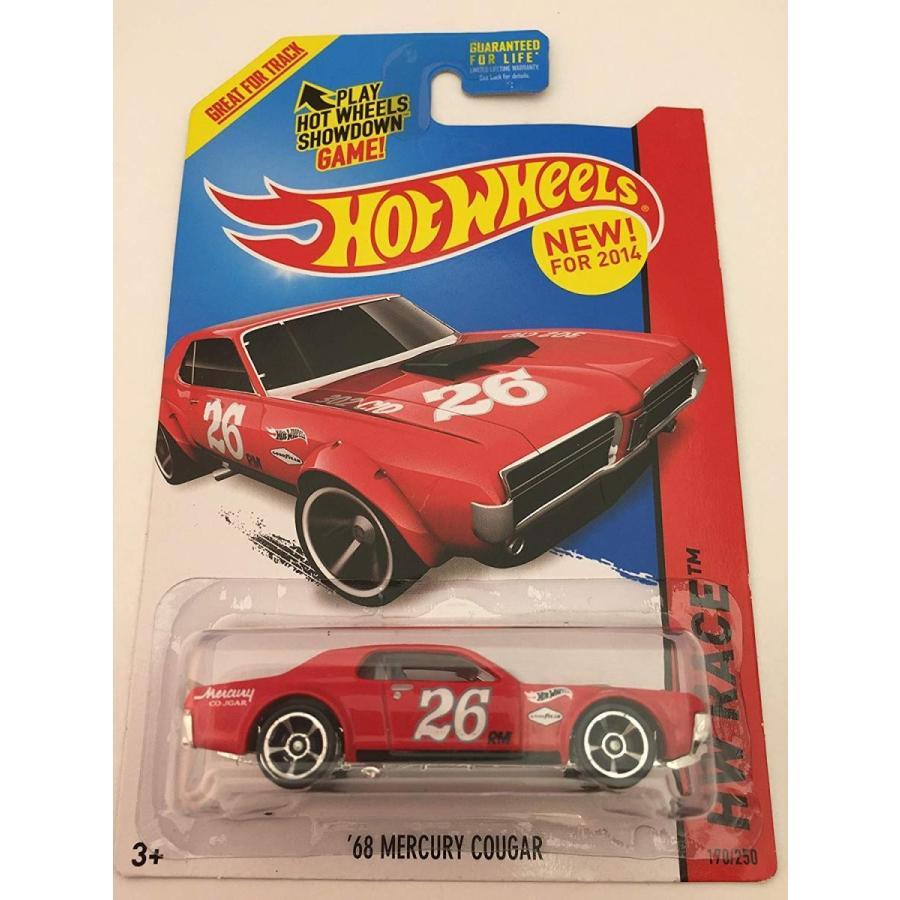 ホットウィール2014 Hot Wheels Hw Race - 68 Mercury Cougar - 赤