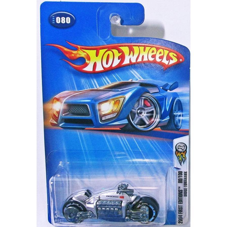 ホットウィールMattel Hot Wheels 2004 First Editions 1:64 Scale 銀 Chrome Dodge Tomahawk 80/100 Die Cast Motorcycle #080