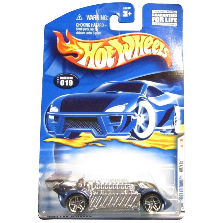 ホットウィールHot Wheels 2001 First Edition Krazy 8s 7/36 019 1:64 Scale