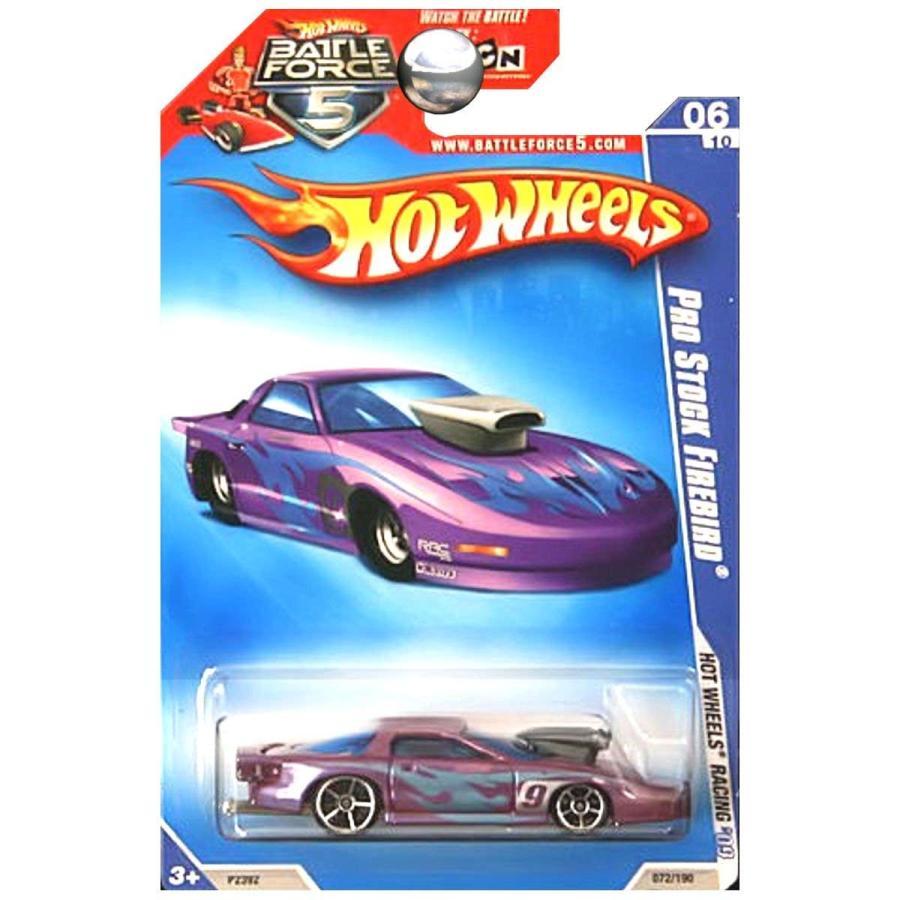 ホットウィールHot Wheels 2009 HW Racing Pro Stock Firebird Pontiac Battle Force Five 5 Card 紫の