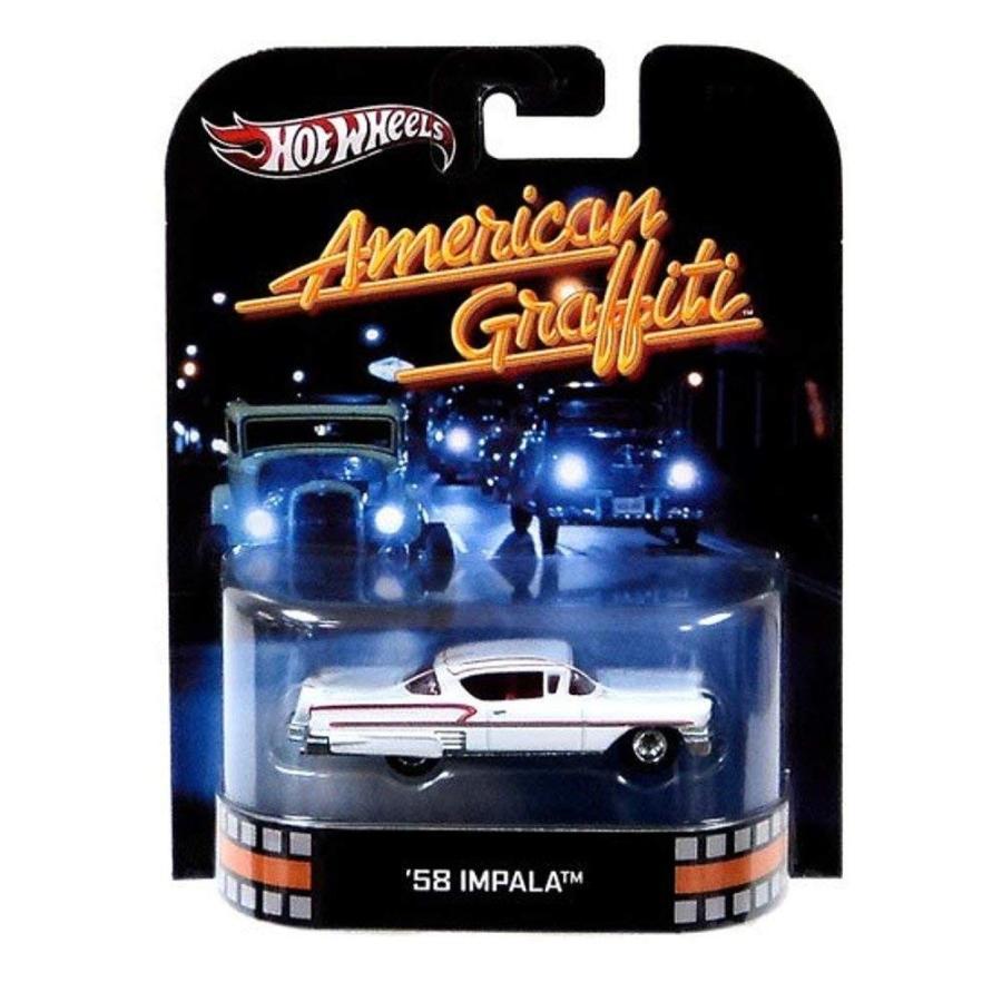 ホットウィールHot Wheels Retro American Graffiti 1:55 Die Cast Car '58 Impala