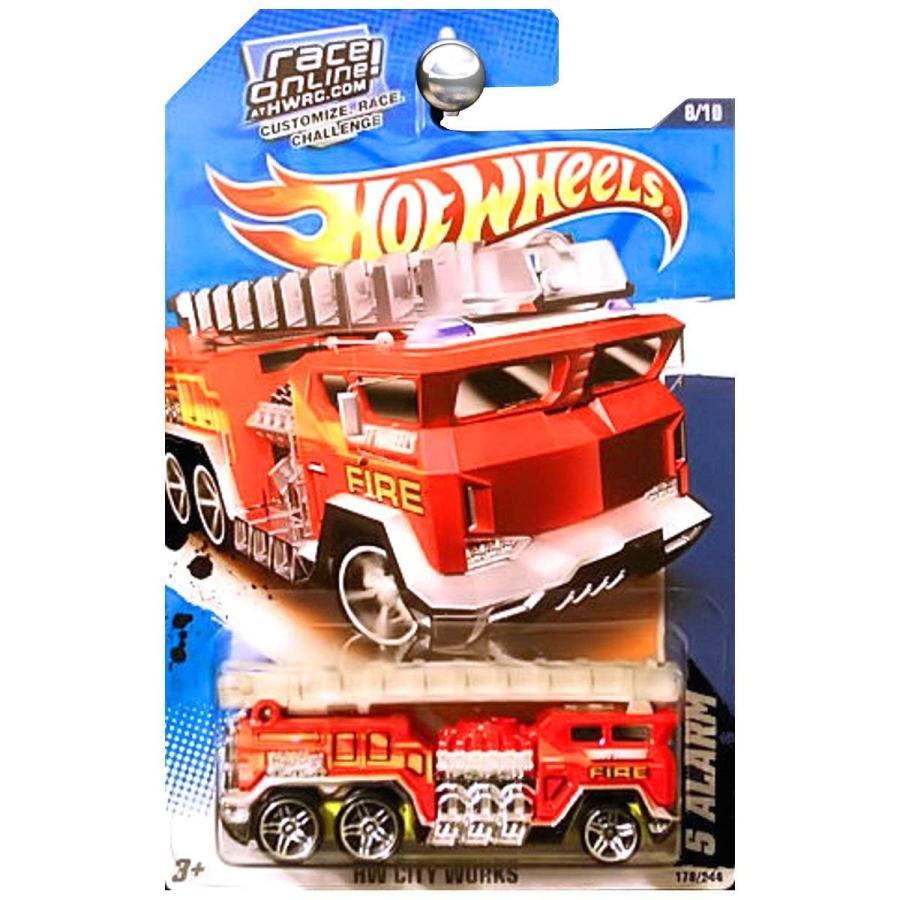 ホットウィール2011 Hot Wheels 5 Alarm Fire Truck HW City Works 178/244 赤