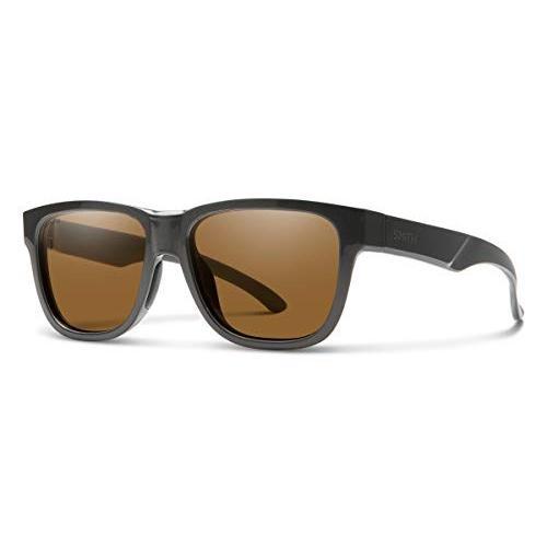 スミスSmith Lowdown Slim 2 Chromapop Sunglasses, Charcoal, Chromapop 褐色