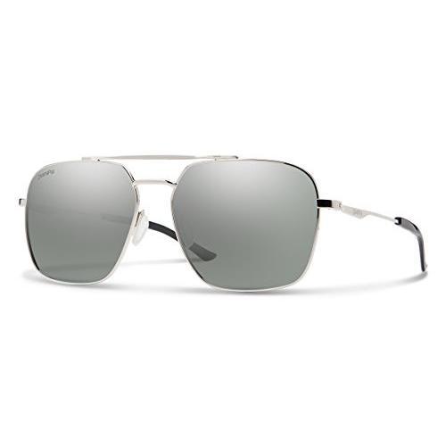スミスDouble Down ChromaPop Sunglasses, 銀 / ChromaPop Polarized Platinum, Smith Optics Double Down ChromaPop Polarized Sun