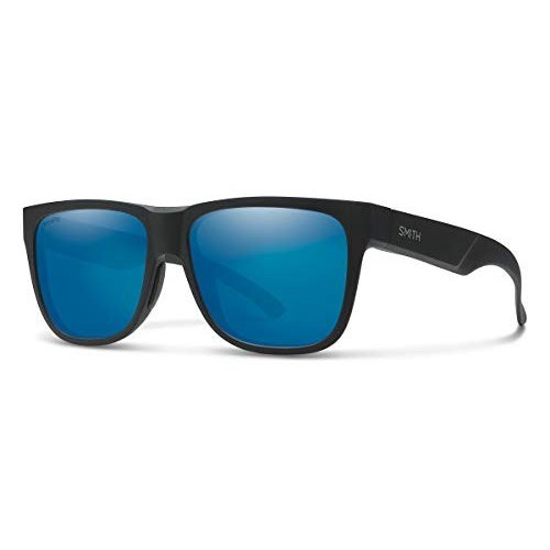 スミスLowdown 2 ChromaPop Polarized Sunglasses, Matte 黒 / ChromaPop Polarized 青 Mirror, Smith Optics Lowdown 2 ChromaPop